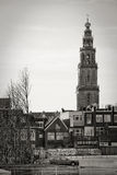 Cityscape of Groningen with the Martini tower Royalty Free Stock Images