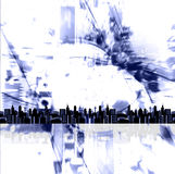 Cityscape grunge. Grungy cityscape metropolis background image Stock Photography
