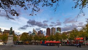 Cityscape of The Hague, Plein Place royalty free stock images