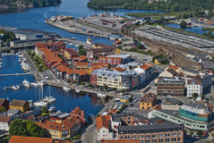 Cityscape of halden city Royalty Free Stock Image