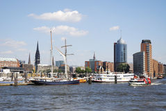 Cityscape of Hamburg Stock Images