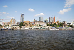 Cityscape of Hamburg Royalty Free Stock Photography