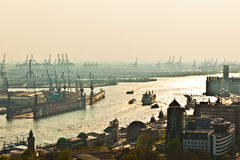 Cityscape of Hamburg from Royalty Free Stock Images