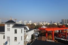 Cityscape of Hangzhou city China Royalty Free Stock Images