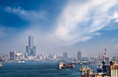 Cityscape of harbor Stock Photo