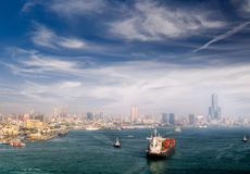 Cityscape of harbor Royalty Free Stock Photo