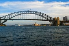 Cityscape with Harbour bridge Stock Images