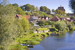 Cityscape of Havelberg with Havel River. Stock Images