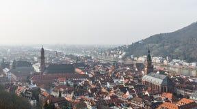 The cityscape of Heidelberg city with River Neckar, Church Royalty Free Stock Photography