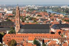 Cityscape of Heidelberg Stock Photos