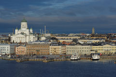 Cityscape of Helsinki, Finland Royalty Free Stock Photos