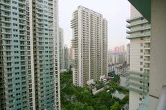 Accommodation blocks in city. High rise apartment blocks in Shanghai, China Stock Photos