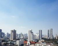 Cityscape High rise building view Bangkok skyline. Thailand real estate city developement stock images