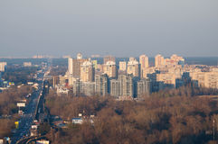 Cityscape. High-rise buildings in Kiev Royalty Free Stock Photos