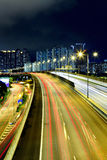Cityscape with highway Stock Photography