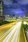 Cityscape with highway Stock Photos
