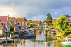 Cityscape Hindeloopen, Friesland the Netherlands royalty free stock photo
