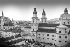 Cityscape of the historic city of Salzburg Royalty Free Stock Photography