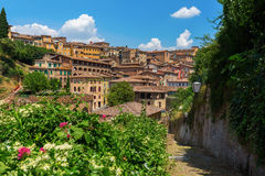 Cityscape of the historic town of Siena, Italy Royalty Free Stock Photography