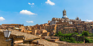 Cityscape of the historic town of Siena, Italy Royalty Free Stock Images