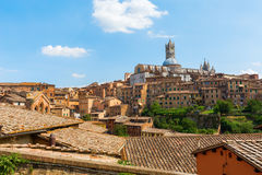 Cityscape of the historic town of Siena, Italy Royalty Free Stock Image