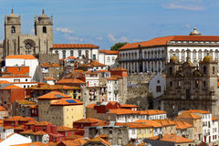 Cityscape of historical center of Porto, Portugal Royalty Free Stock Photography