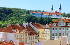 Cityscape of historical Prague center. Royalty Free Stock Images