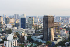 Cityscape of Ho Chi Minh city. Ho Chi Minh City has the most dynamic economy in Vietnam Royalty Free Stock Images