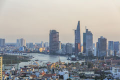 Cityscape of Ho Chi Minh city Stock Photography
