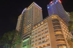 Cityscape Ho Chi Minh City Saigon Vietnam för Caravelle hotellDong Khoi gata Fotografering för Bildbyråer