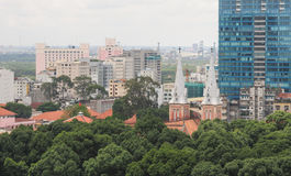 Cityscape of Ho Chi Minh city Royalty Free Stock Images