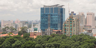Cityscape of Ho Chi Minh city Royalty Free Stock Photography