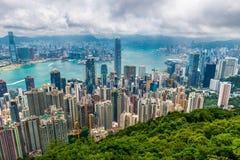 cityscape Hong Kong Royaltyfri Foto