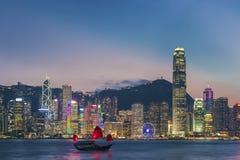 cityscape Hong Kong Arkivbilder
