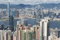 Cityscape of the Hong Kong city in Hong Kong, China. Stock Images