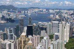 Cityscape of the Hong Kong city in Hong Kong, China. Royalty Free Stock Photography
