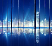 Cityscape Hong Kong City Night View Skyline Concept royalty free stock photos