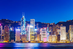 Cityscape in Hong Kong Royalty Free Stock Image