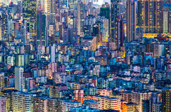 Cityscape in Hong Kong stock image