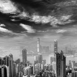 Cityscape of Hong Kong skyscrapers and skyline Stock Photo