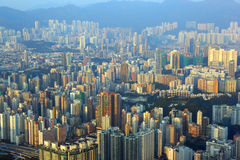 Cityscape of Hong Kong at sunset Royalty Free Stock Images