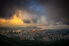 Cityscape in Hong-kong Royalty Free Stock Photography