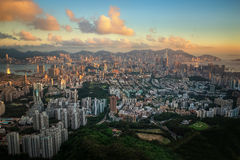 Cityscape in Hongkong Royalty Free Stock Images
