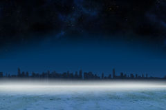 Cityscape on the horizon Royalty Free Stock Images