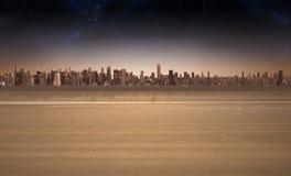 Cityscape on the horizon Royalty Free Stock Photo