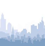 Cityscape horizon bij Ochtend Stock Illustratie