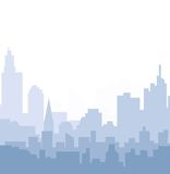 Cityscape horizon bij Ochtend Stock Foto