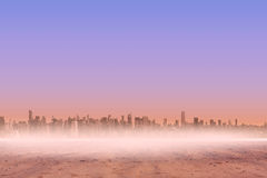 Cityscape on the horizon Royalty Free Stock Photos