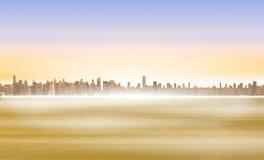 Cityscape on the horizon Royalty Free Stock Photography