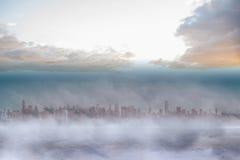 Cityscape on the horizon Stock Photo